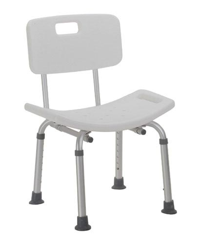 Shower Safety Bench- W/ Back Retail-KD