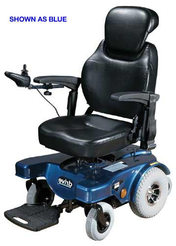 Sunfire General Bariatric Blue Rear Wheel Drive  22  Seat