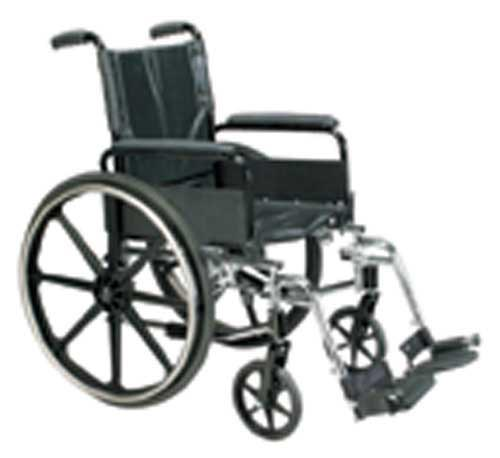 Wheelchair Ltwt K-4 Flip-Back Full Arms & ELR   20