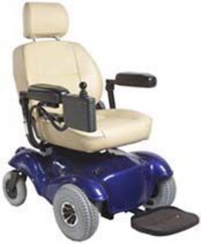 Wheelchair Powerchair Alante Blue W/Front Wheel Drive