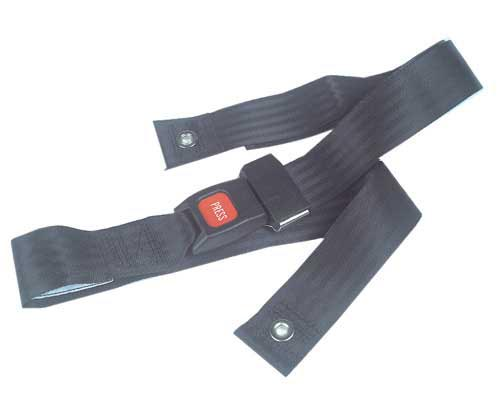 Wheelchair Restraint Belt Airline Closure  Black