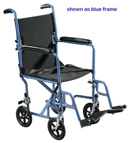 Wheelchair Transport Lightweight Silver 19