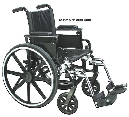 Wheelchair Ultra-Ltwt K-4  20  w/Flip-Back Rem Adj Full Arms