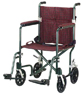 Aluminum Transport Chair 17  Burgundy Green/Designer Fly-Wt
