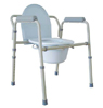Commode  Folding Aluminum Silver