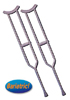 Crutches  Steel  H/D Bariatric Tall Adult  (Pair)
