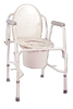 Drop Arm Commode Deluxe-KD Steel