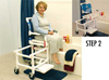 Dual Commode Shower/Transf PVC Chair Deluxew/OneStep Lock
