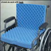 Eggcrate Wheelchair Cushion with Back 18 x32 x3
