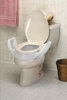Elevated Toilet Seat w/Arms Elongated 19  Wide