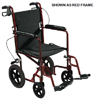 Expedition Aluminum Transport Chair w/Loop Locks  19  Blue