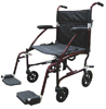 Fly-Lite Transport Chair Burgundy  19