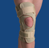 Hinged Knee Wrap Dual Pivot Beige Medium