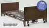 Homecare Semi-Elec Bed-PMI Pkg w/Rails Mattress 2-Motors