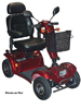 Odyssey Full Size Scooter Red 4-Wheel  Electric