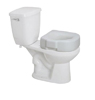 Raised Plastic Toilet Seat- White