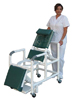 Shower Chair  Reclining Open PVC  Elongated Front  ELR