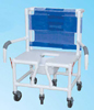 Shower/Commode Chair Baria PVC w/ Seat & Dual Drop-Arms