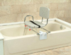 Snap-N-Save Sliding Tub Mount Transfer Bench w/Swivel Seat