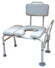 Transfer Bench & Commode Combination w/Padded Seat