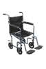 Transport Chair Dlx 19  Blue Fly-Weight Alum w/Rem Wheels