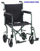 Transport Chair Flyweight 17  Silver