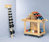 Wall Mounted Wood  Dumbell Rack
