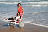 Wheelchair  All Terrain PVC w/ High Flotation Wheels