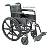 Wheelchair Econ Det Desk Arms 18  w/Swing-Away Footrests