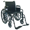 Wheelchair Economy Fixed Arms 18  w/Elevating Legrests