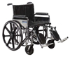Wheelchair  Ex. Hvy Duty  24  Det Full Arms & Elev Legrests