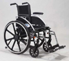 Wheelchair Lightweight K3-4 SEL Legrests Only  Silver Vein