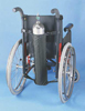 Wheelchair Oxygen Bag Black  27 L x 5  Diameter
