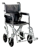 Wheelchair Transport / Companion 19  Wide  Chrome
