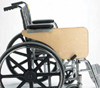 Wheelchair Tray  Half-Lap Wood Flip-Away  for Full Arm