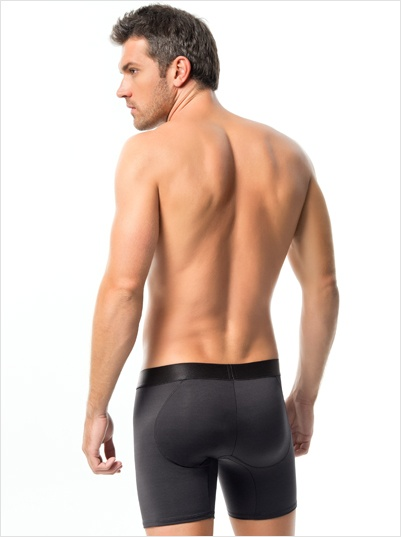 Leonisa Men's Shapewear Padded Butt-lifting Boxer Brief Shaper