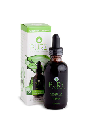 Pure Inventions Green Tea - Original Liquid Dietary Supplement (2 oz.)