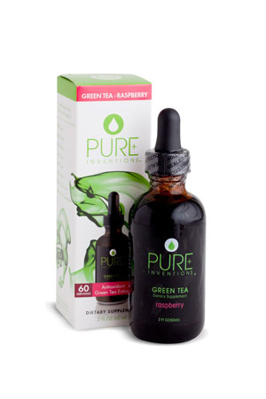 Pure Inventions Green Tea - Raspberry Liquid Dietary Supplement (2 oz.)