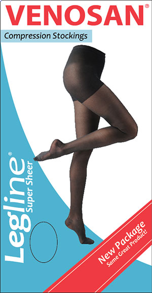 Venosan Legline Super Sheer Knee High Wide Calf Compression Stockings - Closed Toe - 15 - 20 mm Hg
