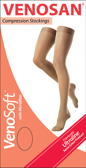 c6b7270b016 Venosan VenoSoft With Microfiber Thigh Length Compression Stockings With  Beaded Silicone Top - Open Toe -