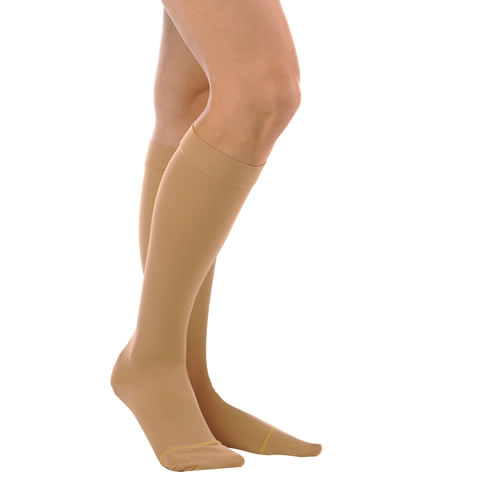 Alex Hosiery Women's Sheer Knee High Closed Toe Support Stockings - 15-20 mmHg