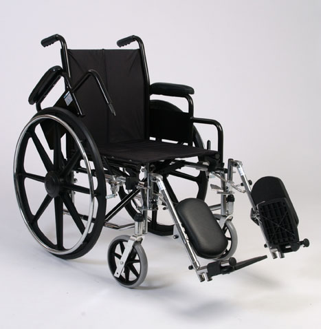 Alex Orthopedic Lightweight Wheelchair With Padded Elevating Footrests