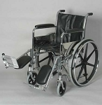 Alex Orthopedic Fixed Arm Wheelchair With Padded Elevating Legrests