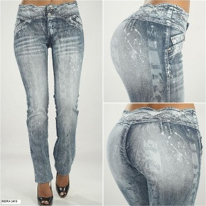 Co'Coon Indra Acid Wash Butt Lifter Bump Up Jeans