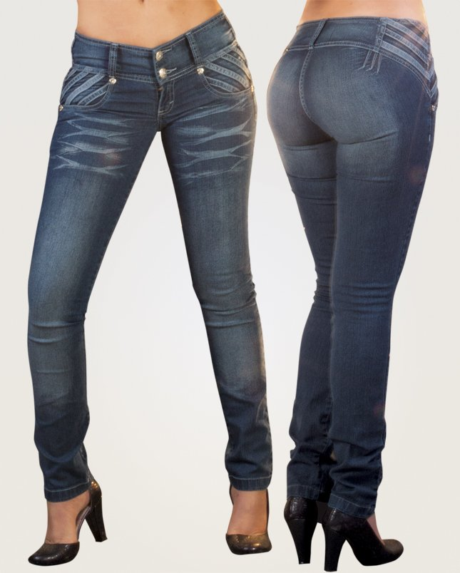 Co'Coon Indra Allie Butt Lift Shaping Jeans - Blue