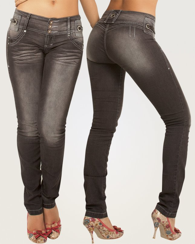 Co'Coon Indra Becky Butt Lift Shaping Jeans - Brown
