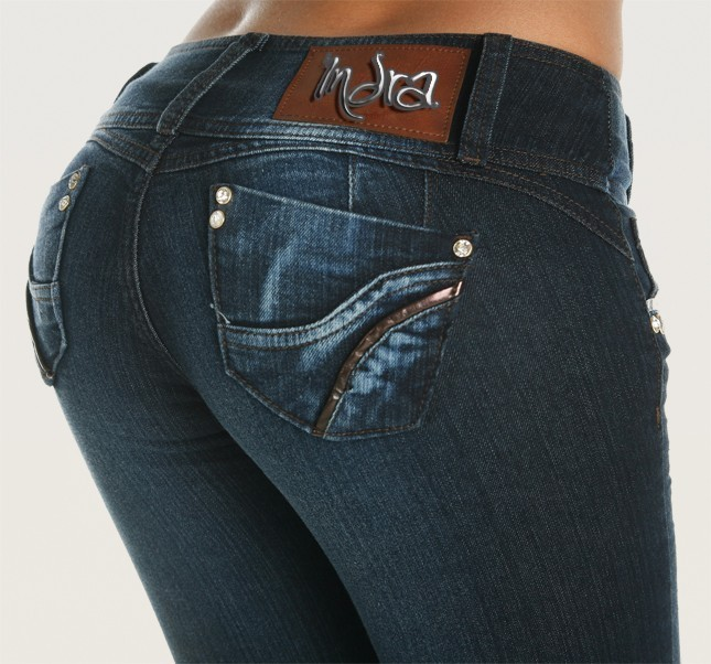 Co'Coon Indra Bonnie Butt Lift Shaping Jeans - Blue