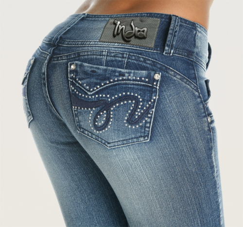 Co'Coon Indra Daisy Butt Lift Shaping Jeans - Blue