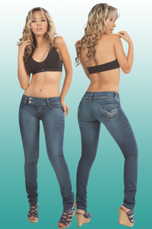 Co'Coon Indra Denim Removable Pads Butt Lifter Bump Up Jeans - 2 Side-Button