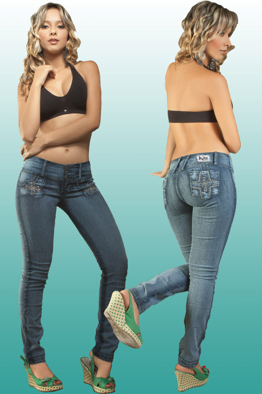 Co'Coon Indra Denim Slimming & Butt Lifter Bump Up Jeans - 3 Button Cross Back Pocket